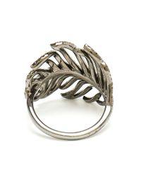 Rosa De La Cruz - Black Diamond Feather Ring - Lyst