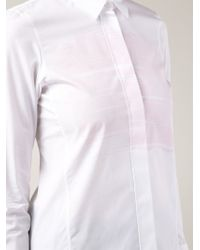 Jil Sander - White Brush Stroke Print Shirt - Lyst