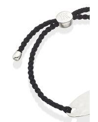 Monica Vinader | Black Bali Friendship Bracelet | Lyst