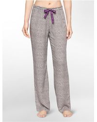 Calvin Klein | Gray Underwear Woven Viscose Abstract Print Pajama Pants | Lyst