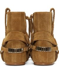 Isabel Marant | Natural Ochre Suede Harness Ralf Boots | Lyst