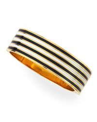 kate spade new york - Striped No Strings Attached Bangle Blackwhite - Lyst