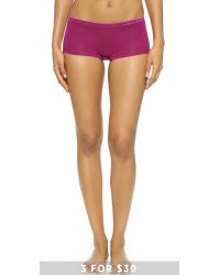 Calvin Klein - Purple Seamless Classic Boy Shorts - Aurora - Lyst