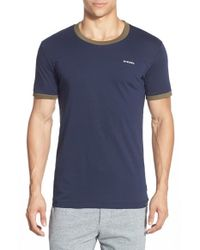 DIESEL | Blue Jake Jersey Crew-Neck T-shirt for Men | Lyst
