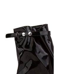 YRU - Black White Wedge Rain Boots - Lyst