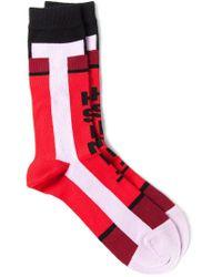 Henrik Vibskov - Red 'finish' Socks for Men - Lyst