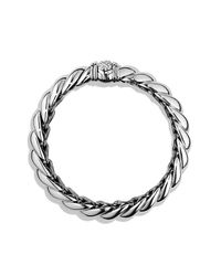 David Yurman | Metallic Hampton Bracelet With Diamonds | Lyst