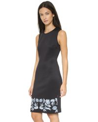 Clover Canyon | Puff Print Dress - Black | Lyst