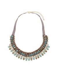 TOPSHOP - Blue Facet Mega Fabric Collar - Lyst