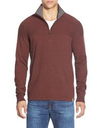 The North Face | Red 'mt. Tam' Quarter Zip Sweater for Men | Lyst