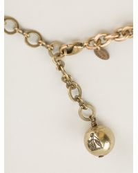 Lanvin - Metallic 'kiss' Necklace - Lyst
