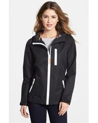 Vince Camuto | White Ripstop Front Zip Hooded Jacket | Lyst