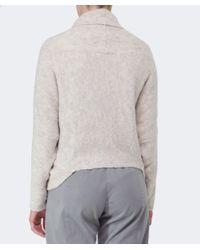 Oska   Natural Marieta Wool Wrap Jacket   Lyst