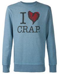 Vivienne Westwood Anglomania - Blue I Heart Crap Sweatshirt for Men - Lyst