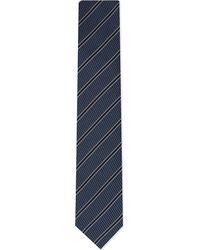 Lanvin - Blue Texture Stripe Tie for Men - Lyst