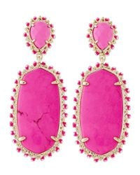 Kendra Scott | Purple Parsons Clip-On Earrings | Lyst