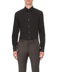 BOSS - Black Jenno Slim-fit Single-cuff Shirt for Men - Lyst