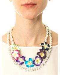 Venessa Arizaga - White Ooh La Lei Necklace - Lyst