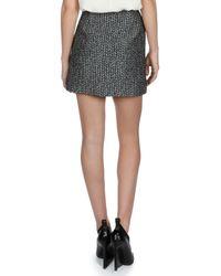 Balenciaga - Black Jacquard Mini Pencil Skirt - Lyst