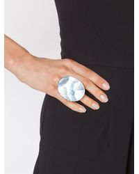 Monies | Gray Round Facet Ring | Lyst