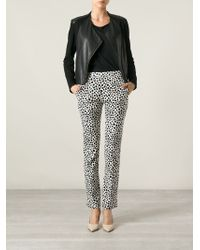 Chloé - Black Dotted Trousers - Lyst