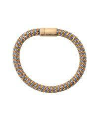 Carolina Bucci - Blue Denim Sparkle Twister Band Bracelet - Lyst