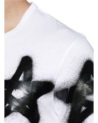 Acne Studios - Black 'eddy' Graffiti Star Print T-shirt for Men - Lyst