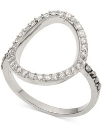 Judith Jack - Metallic Silver-tone Crystal Accent And Marcasite (3/4 Ct. T.w.) Oval Ring - Lyst