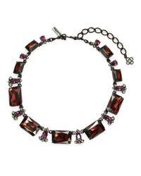 Oscar de la Renta - Purple Faceted Rextangle Collar Necklace - Lyst