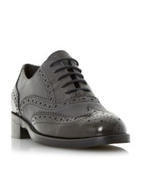 Dune | Gray Finn Brogue Lace Up Shoes Shoes | Lyst