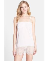 Joe's Jeans - Natural 'ella' Lace Trim Mesh Chemise - Lyst