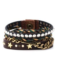 DIESEL | Brown Multi Strand Bracelet for Men | Lyst
