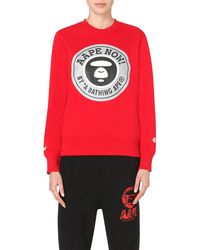 Aape - Red Branded-print Sweatshirt - Lyst
