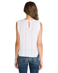 Twelfth Street Cynthia Vincent - White Embroidered Mirror Tank - Lyst