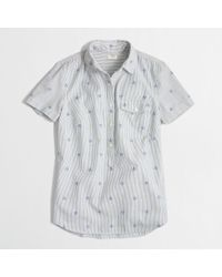 J.Crew - Natural Factory Shortsleeve Popover in Stripe - Lyst