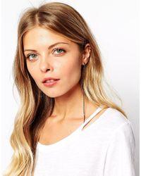 ASOS - Gray Diamante Tassel Earrings - Lyst