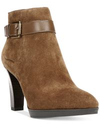 Franco Sarto | Natural Idrina Ankle Booties | Lyst