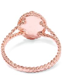 Alex Monroe - Pink Rose Gold Small Wild Strawberry Flower Ring - Lyst