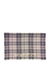 kate spade new york | Natural Woodland Plaid Oblong Scarf | Lyst