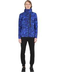 Nike | Blue Camo Zip-up Cotton Blend Sweatshirt for Men | Lyst