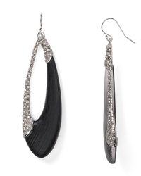 Alexis Bittar - Deco Lucite & Crystal Asymmetrical Oval Drop Earrings/Black - Lyst