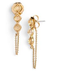 Rachel Zoe | Metallic 'prestley Pyramid' Chain Earrings | Lyst