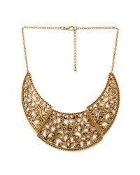 Forever 21 - Metallic Filigree Bib Necklace - Lyst