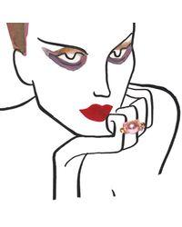 Caterina Zangrando | Swarovski Pink Bolt Ring | Lyst