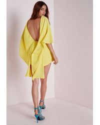 a2813a8eea Lyst - Missguided Chiffon Cape Playsuit Yellow in Yellow