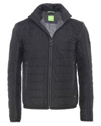 BOSS Green - Black Quilted Jelgar Jacket for Men - Lyst