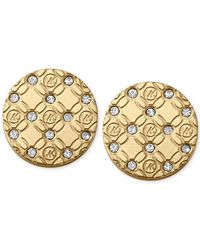 Michael Kors | Metallic Clear Etched Disk Stud Earrings | Lyst