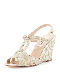 L.K.Bennett - Natural Clarissa Metallic Sandals - Lyst
