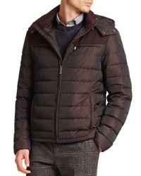 Etro - Purple Paisley Print Quilted Puffer Jacket for Men - Lyst
