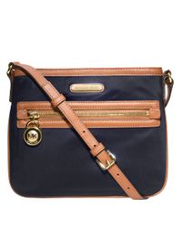 MICHAEL Michael Kors | Blue Kempton Nylon Leather Crossbody Bag | Lyst